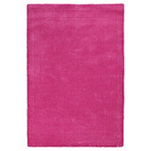 Tesco Rugs Plain Wool Rug Fuchsia 160X230Cm