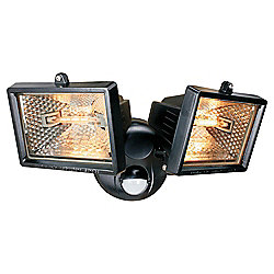 Elro Halogen Twin Security Light 120w ES120/2, Black