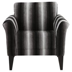 Vancouver Fabric Accent Chair Black