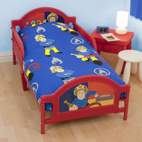 Character World Fireman Sam Rescue Junior Rotary 4 Piece Bedding Bundle Set