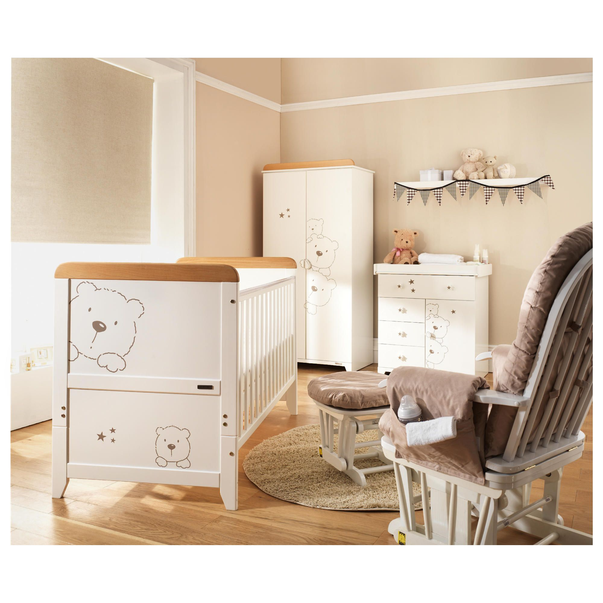 Tutti Bambini 4 Piece Nursery Roomset, 3 Bears, Free home assembly at Tesco Direct