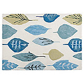 Tesco Rugs Watercolour Leaf Rug Soft Teal 120x170cm