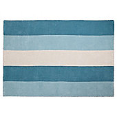 Tesco Rugs Vertical Stripe Rug Duck Egg 120X170Cm