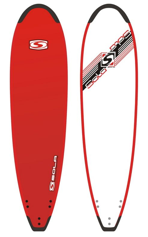 Sola 8ft Softboard with Tailguard Red