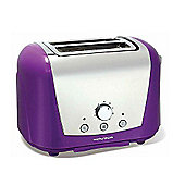 Morphy Richards 77-713 Accents 2 Slice Chrome and Plastic Toaster, Polished and Purple