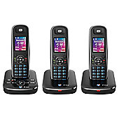 BT Aura 1500 Digital Cordless Triple Phone with Answering Machine - Black