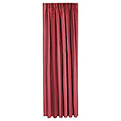 Tesco Hampton Stripe Unlined Pencil Pleat Curtains - Red