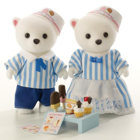 Sylvanian Families Ice Cream Vendor Figures