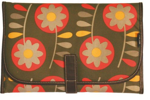 Retro Circular Floral Olive Green oi oi change mat