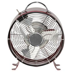 Aura Retro Desk Fan Red