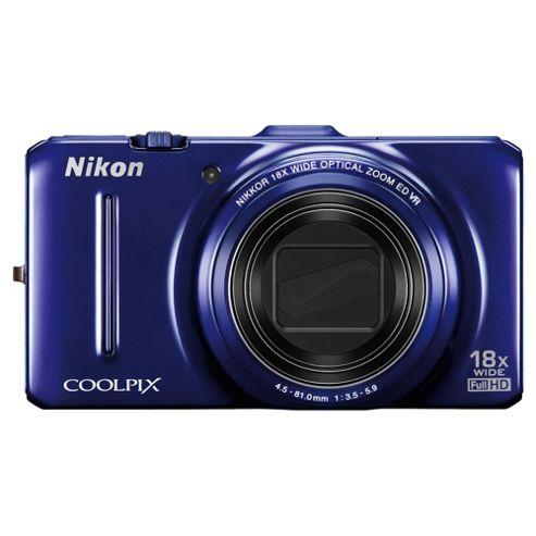 Nikon S9300 Digital Camera, Blue, 16MP, 18x Optical Zoom, 3.0 inch LCD Screen