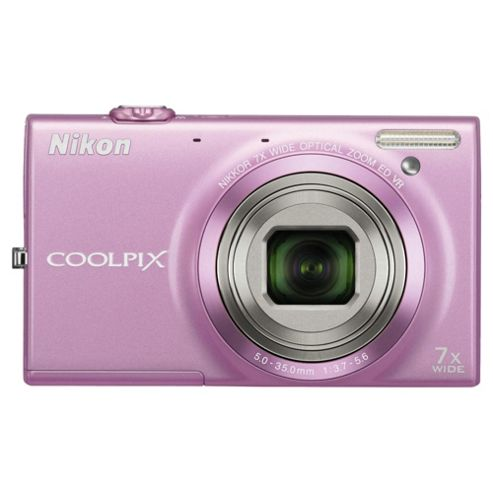 Nikon S6100/S6150 Digital Camera, Pink, 16MP, 7x Optical Zoom, 3 inch LCD Screen