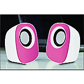 Tesco S211 USB PC/ Laptop Speakers Pink