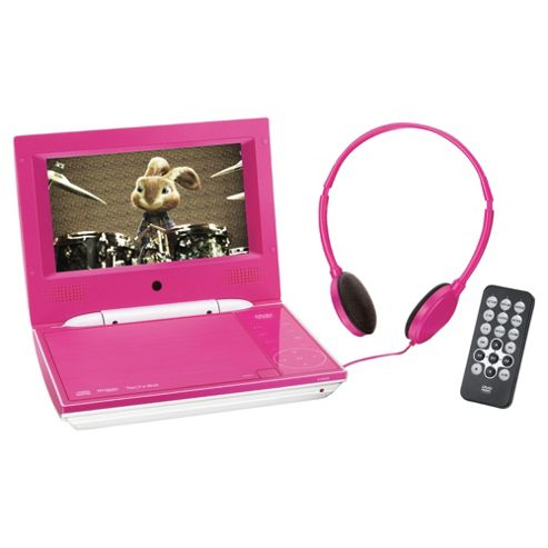 buy technika 7 pink portable dvd player tk7hppdvd from our portable dvd players range tesco. Black Bedroom Furniture Sets. Home Design Ideas