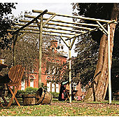 Holwel Pergola - Includes Metcrete for fixing posts into the ground