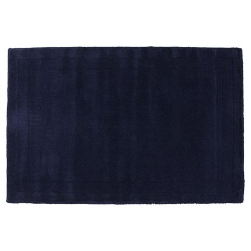Tesco Rugs Plain Wool Rug Blue 160X230Cm