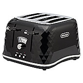 De'Longhi Brillante CTJ4003 4 Slice Toaster, Black