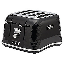 De'Longhi Brillante CTJ4003 4 Slice Toaster - Black