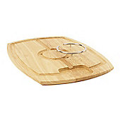 T&G Woodware Scimitar Spiked Carving Board in Hevea, with Removable/Reversible Spiked Ring