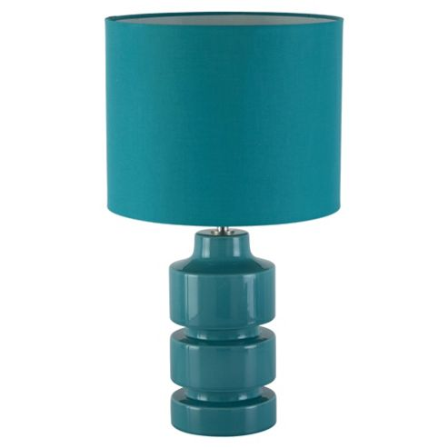 Tesco Lighting Retro Ceramic Table Lamp, Soft Teal