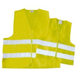 AM Tech 2 Pack Adult & Child Safety Hi-Vis Vest Set