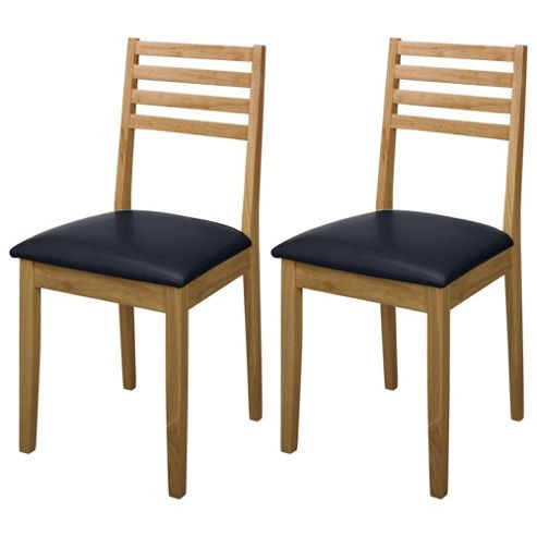 Pembrook Pair Of Slat Back Chairs Natural