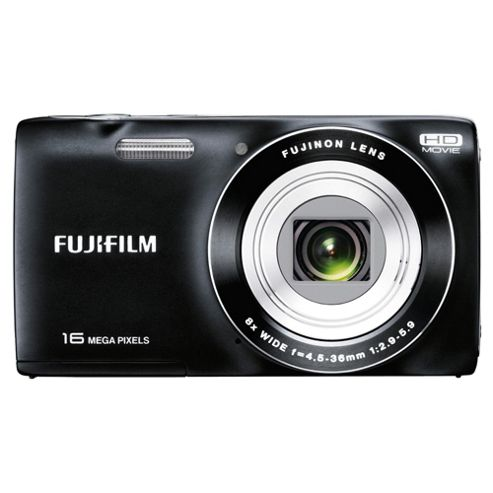 Fuji JZ200 Digital Camera, Black, 16MP, 8x Optical Zoom, 2.7