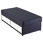 Airsprung Essentials Kids Single Waterproof Anti Dust Slidestore Divan Bed Navy