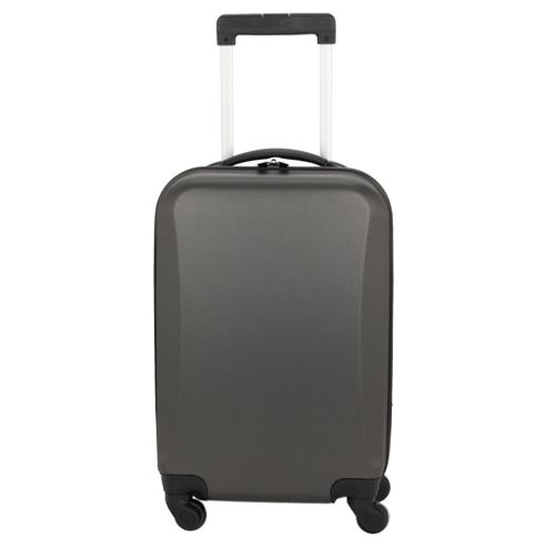 Tesco Hard Shell 4-Wheel Suitcase, Grey Small