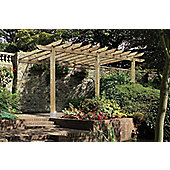 Finsbury Lean-to Pergola includes Metcrete for fixing posts into the ground