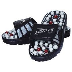 Yantra Acupressure Slippers, Black, Small