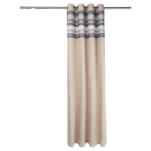 Tesco Brighton Stripe Lined Eyelet Curtains W163xL137cm (64x54