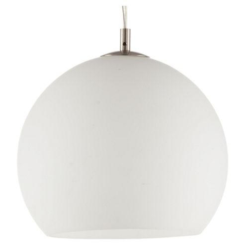 Tesco Lighting Roma Opal Glass Pendant Ceiling Light