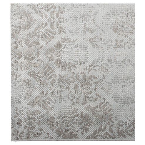 Tesco Rugs Damask Flatweave Rug Natural 120x170cm
