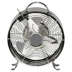 Aura Retro Desk Fan Black
