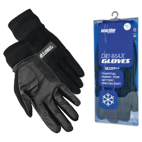 Longridge Dri Max Mens Winter Gloves (Large) Black