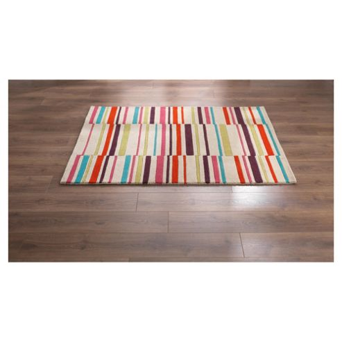 Tesco Rugs Multicolour Stripe Rug 150X240Cm