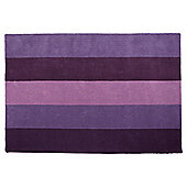 Tesco Rugs Vertical Stripe Rug Plum 150X240Cm