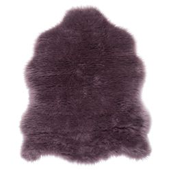 Tesco Rugs Faux Sheepskin Rug Single Plum 75 x 95cm