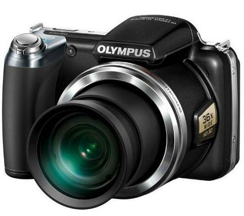 Olympus SP-810UZ 14MP Digital Camera Black