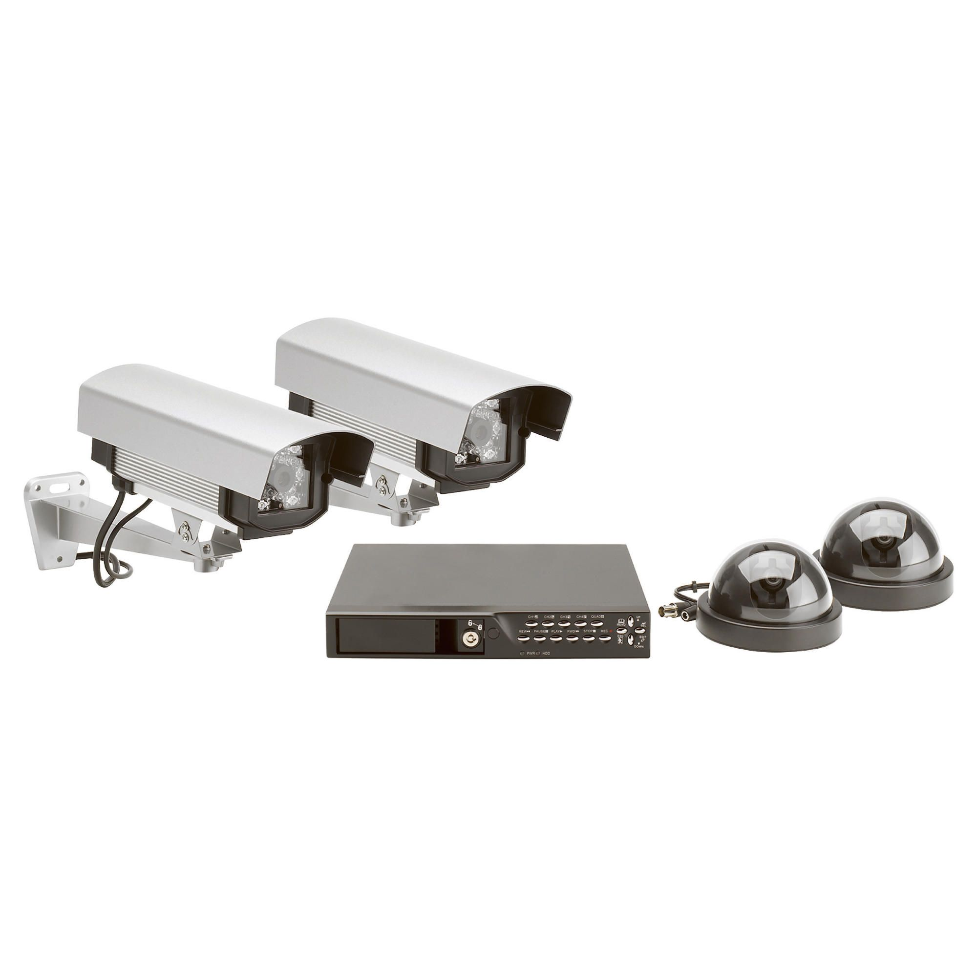 Wired Prof 4 Colour Camera and 4 Channel DVR CCTV Kit at Tesco Direct