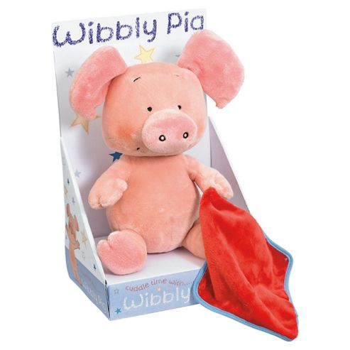 Plush Wibbly Pig With Blanket Plush 8/20cms Rainbow Designs