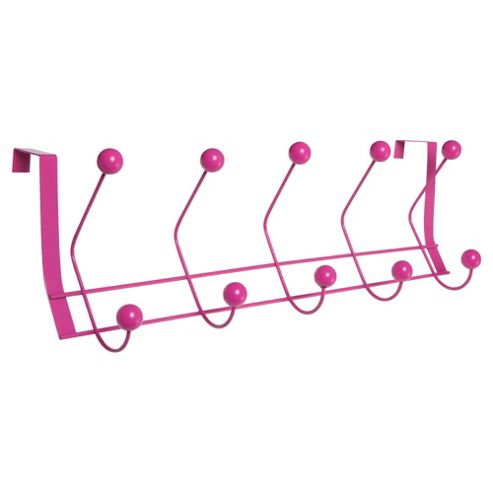 Stainless Steel Overdoor Hooks, Pink