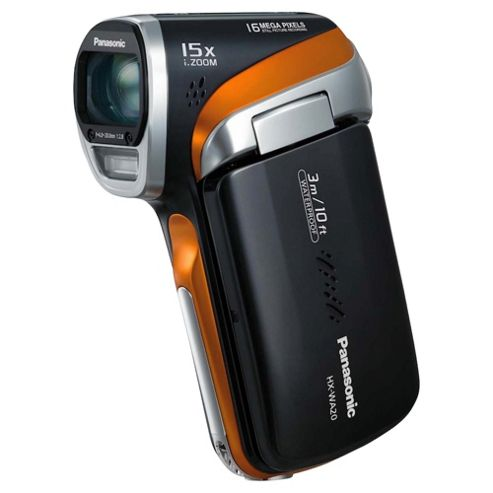 Panasonic WA20 HD Black Waterproof Camcorder