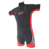 TWF Shortie Kids' 2.5mm Wetsuit - Black & Red