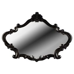 French Overmantle Mirror Black
