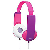 JVC Tiny Phones Kids Stereo Headphones Pink HAKD5P