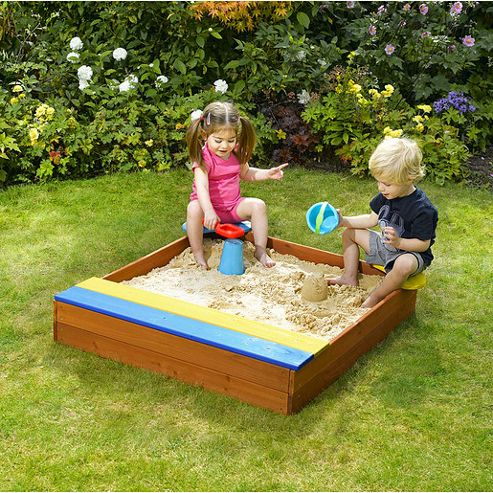 Plum Sandpit With Storage