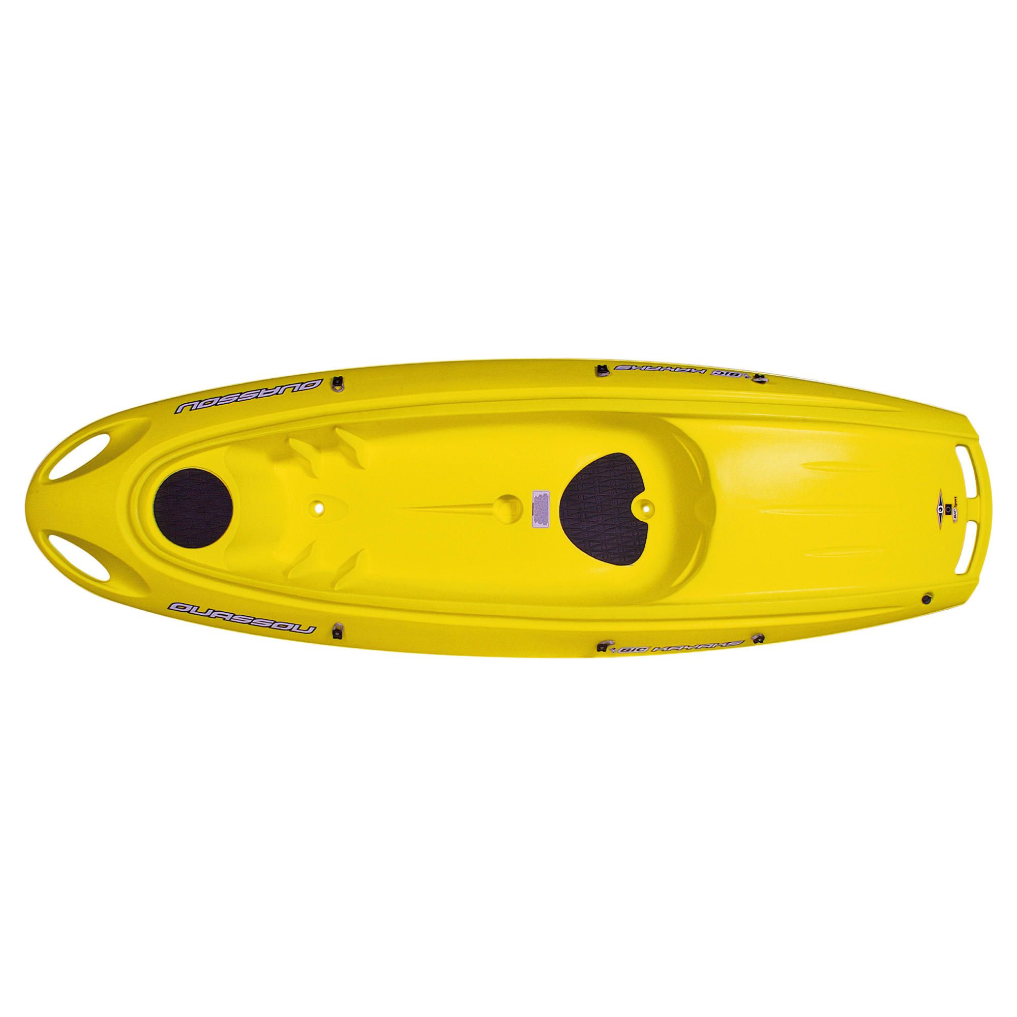 Bic Ouassou 1 Man Sit-On-Top Kayak Yellow Package at Tesco Direct