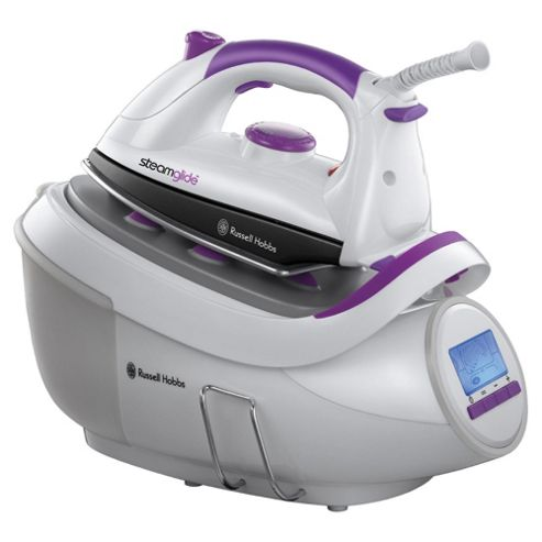 Russell Hobbs 18465 Steam Generator with Stainless Steel Plate - White
